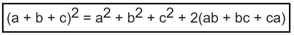 Bình phương của tổng 3 số hạng